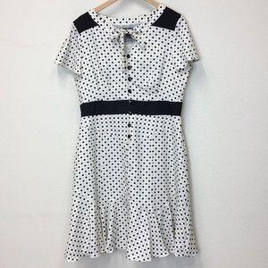 Chadwick's vintage style 40s flutter sleeve dress